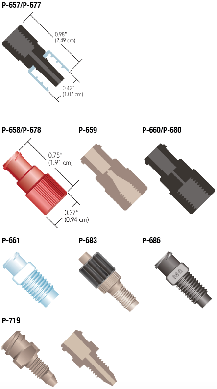 Idex Quick Connect Luer Adapters