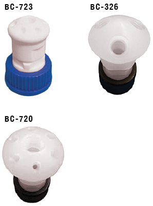 Vaplock Solvent Waste Manifold Caps for GL45, GL38 and 38-430
