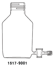500 mL Specialty Bottle with Aspirator with 2 mm stopcock 1517-9001