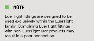 note luertight fittings