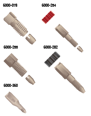 Rheodyne RheFlex Fingertight Fittings