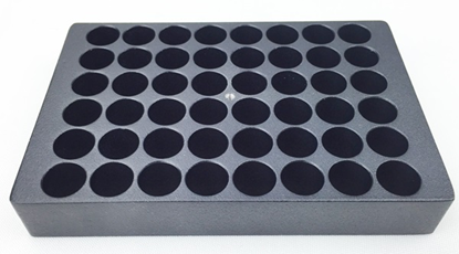 Aluminum block holder for 48 vials