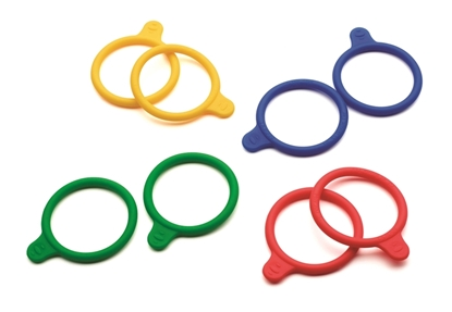 Silicone identification rings