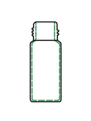 Picture of CTV-1209 - 2 mL Clear Glass Vial, 9mm Screw Thread, 100/pk