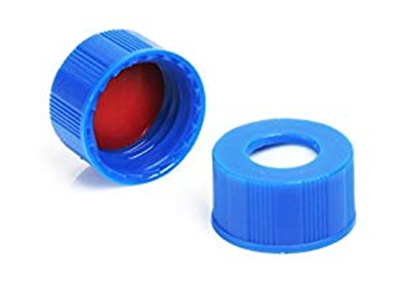 Picture of CTC-0952-BOND - 9 mm Blue Bonded Screw Cap, PTFE/Sil, 1000/pk