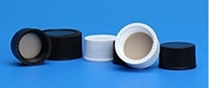 Picture of 536015 - Solid Top Cap,15-425 Black PP, PTFE/F217, 1000/pk