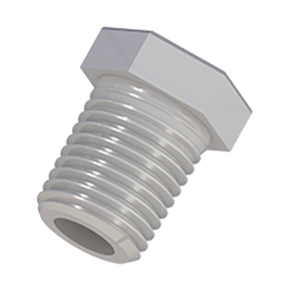 "Picture of PL-101X - PLUGS, 1/4"" NPT, Polypropylene, 10/PK"