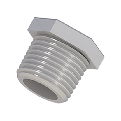 "Picture of PL-102X - PLUGS, 1/2"" NPT, Polypropylene, 10/PK"