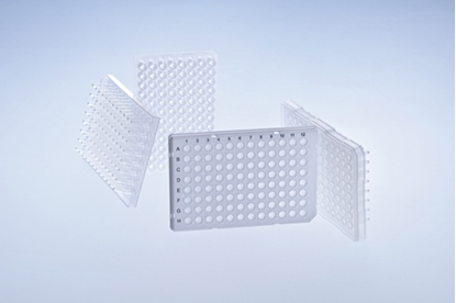 Picture of 96-PCR240 - 96-well PCR plate, PP, half skirt, 100/cs