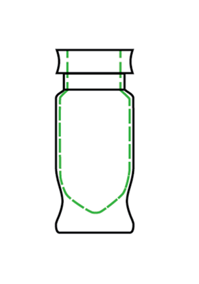Picture of CTH-1400 - 1.5 mL Vial, Wide Mouth Crimp, High Recovery, 100/pk